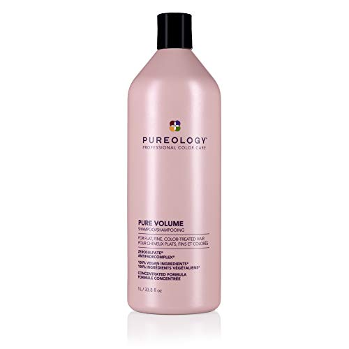 Pureology Pure Volume Shampoo | For Flat, Fine, Color-Treated Hair | Adds Lightweight Volume | Sulfate-Free | Vegan | Updated Packaging | 33.8 Fl. Oz. |