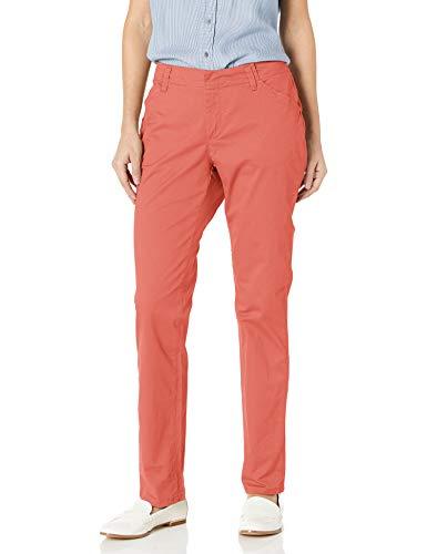 Lee Women's Midrise Fit Essential Chino Pant, Vintage deep Rose, 14