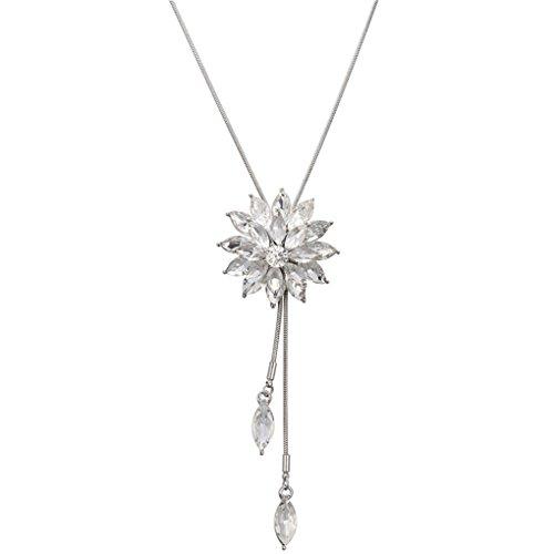 Forbestest Western-Art-Schneeflocke-Entwurf lange hängende Halskette für Kleider Pullover