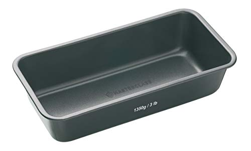 Kitchen Craft Molde Rectangular, Acero, Negro, 28 x 13 cm