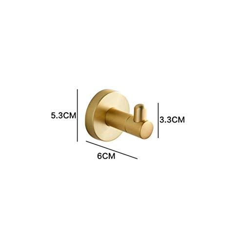 LCZMQRCLMZRQ Geborsteld goud badkamer hardware accessoires handdoekenrek plank wand toiletborstelhouder met papierrolhouder, k