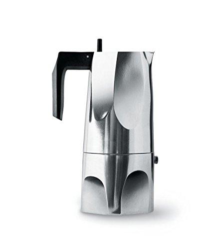 Alessi Espressomaschine Ossidiana, Edelstahl, Alu, 8 x 23.5 x 11.5 cm