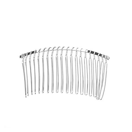 HAQTXI 20 Dents Cheveux Pince Peignes métalliques métalliques métalliques Peignes métalliques métalliques mariée Mariage Voile Peignes Accessoires de Mariage (Color