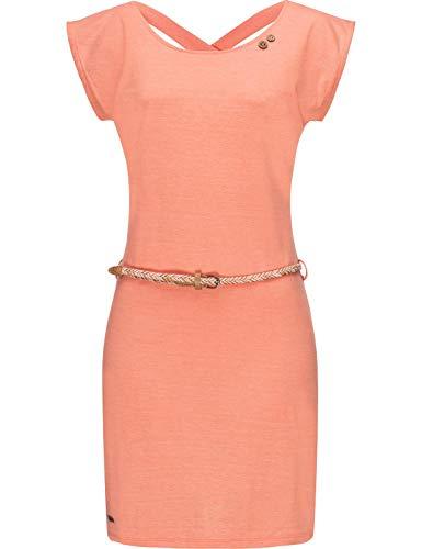 Ragwear Damen Kleid Dress Sommerkleid Strandkleid Jerseykleid Freizeitkleid Sofia Dress II Peach20 Gr. M