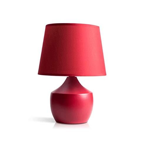 WZHZJ Nordic Concisa Rojo Moderno Escritorio Lámpara de cerámica Tabla de la Manera de la Sala de la lámpara de Noche la lámpara Creativa