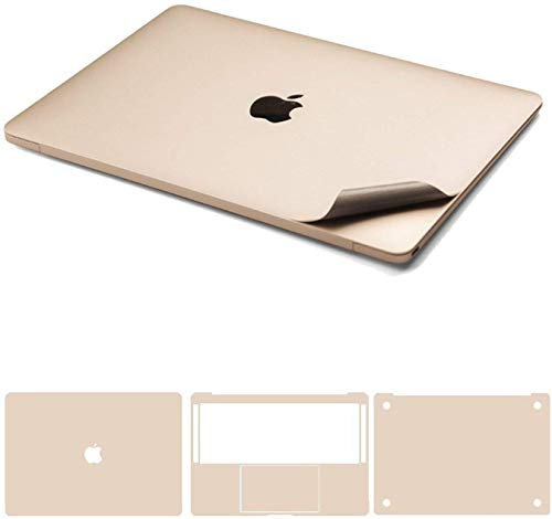 Who-Care Decal Cover For Apple For Macbook Pro 13' 15' A1708 A1707 A1706 Top/Bottom/Toucfor Hpad/Palm Guard Skin-4In1Gold-Pro13Touchbara1706