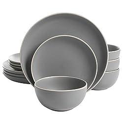 commercial Gibson Home Rockaway 12 Piece Cookware Set for 4 Matt Grays – dinnerware sets