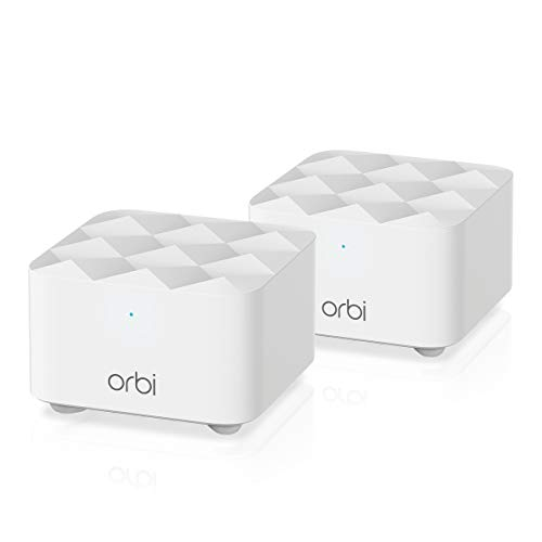 NETGEAR Orbi Whole Home Mesh Wi-Fi Network System - Eliminate WiFi Dead Zones and Enhance Speeds With Up To 2000 sq ft coverage, Replaces Router and Wifi Booster (RBK12)