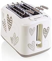 CENPEN 54049 ABS / Edelstahl Batticuore Toaster, Weiß lxhff