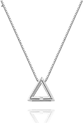 Yiffshunl Collar Collar Collar Triángulo geométrico Colgante Collar de Cadena