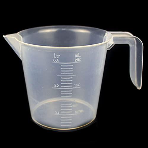 DPFXNN Vaso De Medición De Plástico Vaso Graduado De Plástico De 250-500ml Transparente para Líquidos De Cocina De Laboratorio 2 Uds,250ML