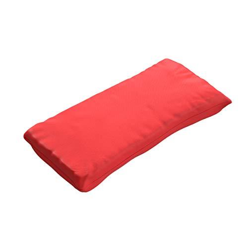 Ampel 24 - Coussin pour Meubles de Jardin/Repose-tête pour Chaise-Longue/Oreiller de Voyage/Tissu résistant Rouge / 47x23 cm