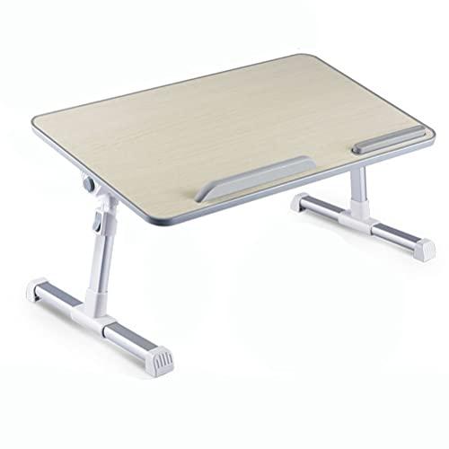 YUDIZWS Mesa De Cama para Ordenador Portátil Altura Ajustable Multifunción Ergonómico Pies Trineo Plegable Soporte Pad Adecuado Sofa Suelo (Size : 52 * 30)