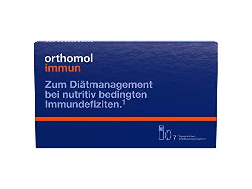 Orthomol immun 7 Trinkampullen & Tabletten - Vitamine & Spurenelemente - Komplex zur Unterstützung für das Immunsystem