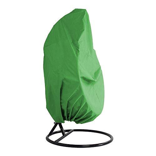 mychoose Patio Hängestuhl-Abdeckung für Einzel- / Doppelschaukeleier, Polyester-TAFT, wasserfest, für den Garten, Rattan, Schaukelstuhl, Outdoor-Möbel, grün, Doppelbett