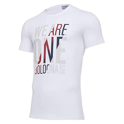 Macron Bfc Merch Ca Camiseta Tifoso Jersey Cottonpoly Bia Sr, Algodón Blanco Bolonia FC 2020/21 Hombre, M