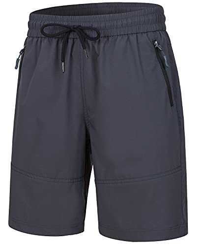 Wespornow Women's-Quick-Dry-Hiking-Shorts Bermuda Shorts for Golf, Fishing, Camping, Travel, Workout (Grey, Medium)