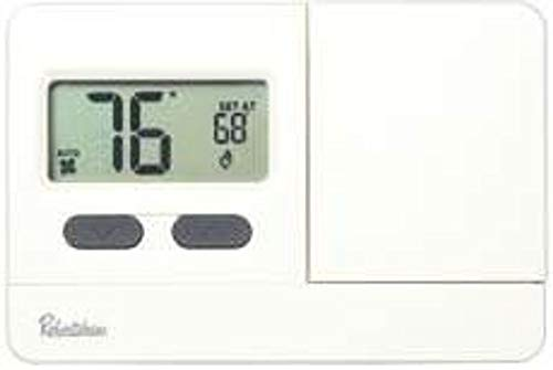 Robertshaw RS2110 Non-Programmable Thermostat, 1 Heat/1 Cool, 3 VDC
