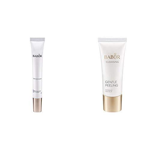 BABOR SKINOVAGE Moisturizing Eye Cream, Augencreme gegen Falten & Augenringe, trockene Haut der Augenpartie, 1 x 15 ml & CLEANSING Gentle Peeling, für jede Haut, mildes Gesichtspeeling, 1 x 50 ml
