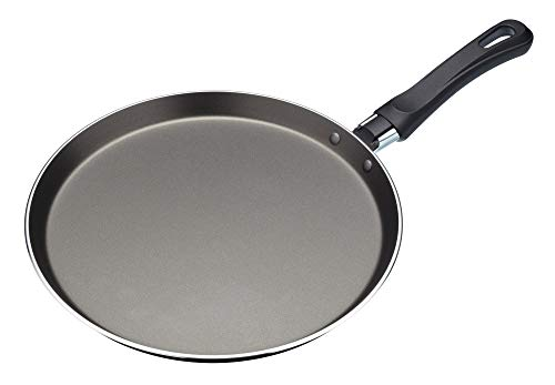 KitchenCraft - Sartén Antiadherente para Tortitas con una Receta Impresa, Aluminio, 24...
