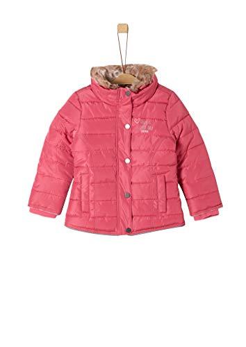 s.Oliver RED Label Mädchen Winterjacke mit Fake Fur-Kragen pink 128