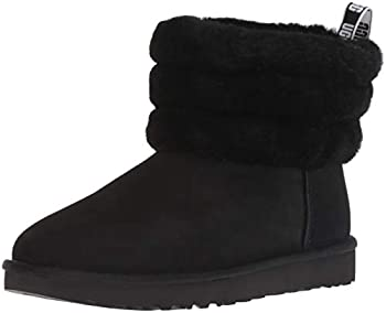 UGG Women s Fluff Mini Quilted Boot Black 7