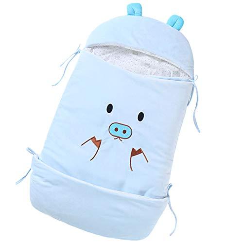 FREEDL Baby Swaddle Wrap Manta Envolvente Otoño Invierno con Capucha, Saco De Dormir para Bebe Recien Nacido Acolchado, Cubrir Neonato Anti-Patada Saco De Dormir Gruesa Niños De 0 a 24 Meses 85cm