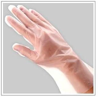 (業務用セット) 福助工業 ポリ手袋 指フィット 100枚パック L 【×10セット】