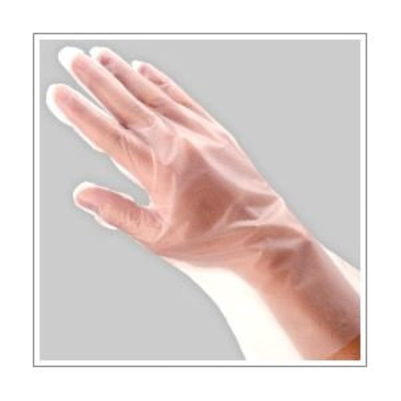 ケーブル軽減する彫刻(業務用セット) 福助工業 ポリ手袋 指フィット 100枚パック M 【×10セット】 dS-1640684