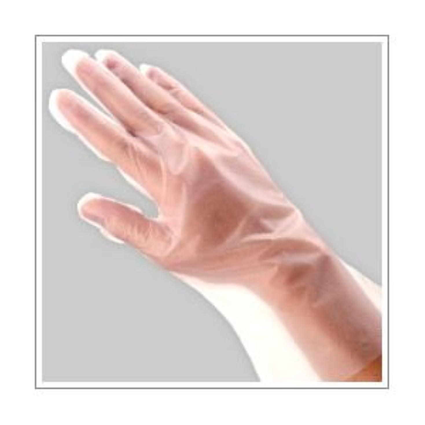 取り消すロゴ科学(業務用セット) 福助工業 ポリ手袋 指フィット 100枚パック L 【×10セット】