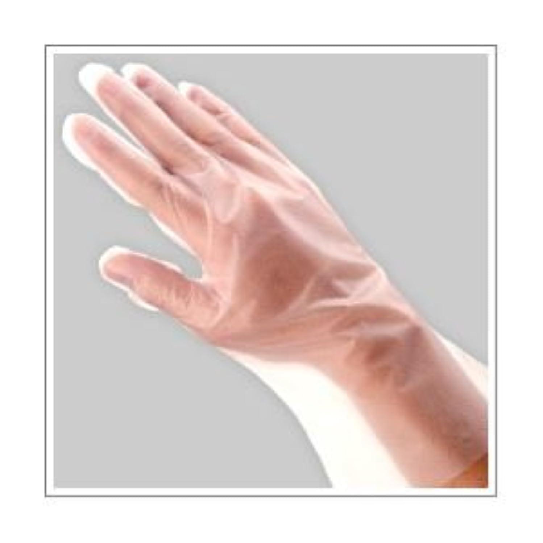 バトル複合二度(業務用セット) 福助工業 ポリ手袋 指フィット 100枚パック M 【×10セット】