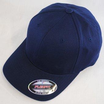 Yupoong - Casquette Baseball Flexfit Couleur Unie - bleu marine, Large / X-Large