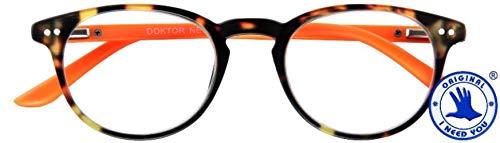 I Need You leesbril +3,5 model DOKTOR NEW oranje kant-en-klare bril U & HN etui