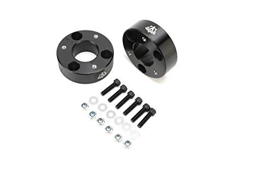 "AA Ignition Front Leveling Kit 2.5"" Inches - Fits 2006-2018 Dodge Ram 1500 Pickup Truck 4 Wheel Drive 4WD, 4x4 - Front Strut Spacers Lift 2 1/2 Inch - Forged Aircraft Aluminum Billet Construction"