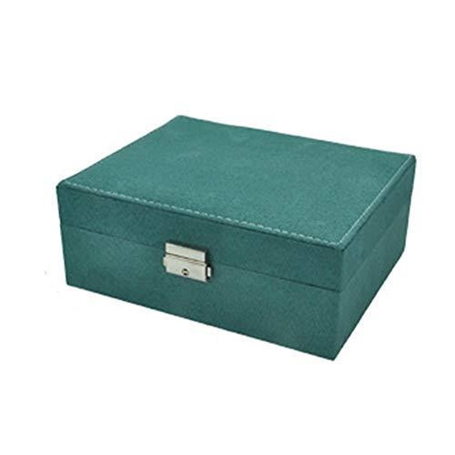 YHDNCG Joyero,Joyería rectangular pequeña de franela,Caja de almacenamiento de collar,Caja de exhibición de joyería de alta capacidad