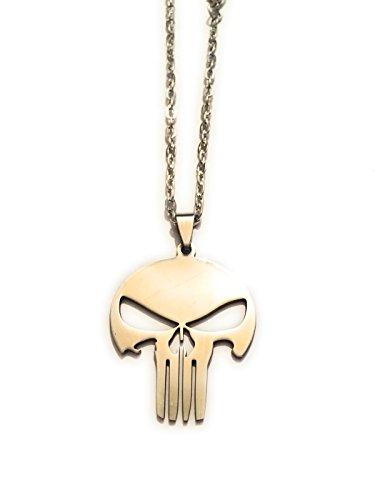 giulyscreations Halskette Metall Nickel Free The Punicher der Punisher Logo Totenkopf Skull Marvel Comics Serie TV Pop Cosplay