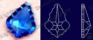 38mm Asfour Sapphire Blue French Cut Crystal Prisms #911-38
