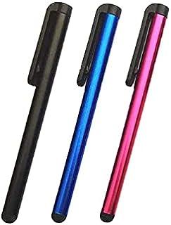 أقلام ستايلس رفيعة عالميًا لجميع شاشات اللمس التكاثفية والهواتف الخلوية، والآيباد، والتابلت، واللاب توب 3 أقلام بألوان متع...