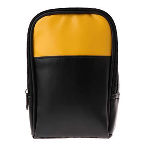 Yushu Bolsa de transporte suave para multímetro de mano 15B 17B 18B 115 116 117 175 177 179 Multímetro Bolsa de almacenamiento 20X13X6CM Herramientas Instrumentos Accesorios y Accesorios