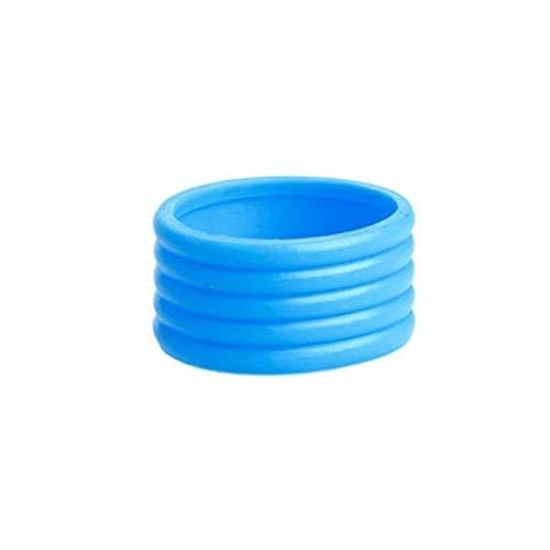 SZHXH 1 unids Tenis Raqueta Agarre apretón de Tenis Agarre Protector elástico supergrip Fijar Anillo Absorber Anillos elástico (Color : Blue)