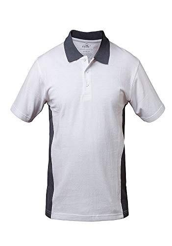 Elysee Polo-Shirt Weiß/Grau (L)