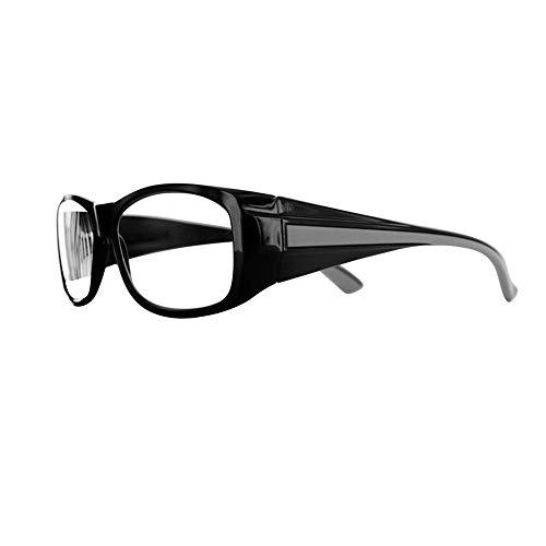 Varionet Safety CB-300PG01-C01 300 Varionet Cool Blue Progress Blaue und Anti-Reflektion-Brille, geeignet für Sehvermögen – 30 cm bis 1 Meter – Norm EN 166 – Korrektur + 3, Schwarz/Beige, 3.00