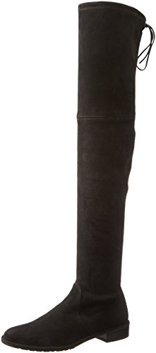 Stuart Weitzman Women's Lowland Over-The-Knee Boot,Black Suede,8 Medium US