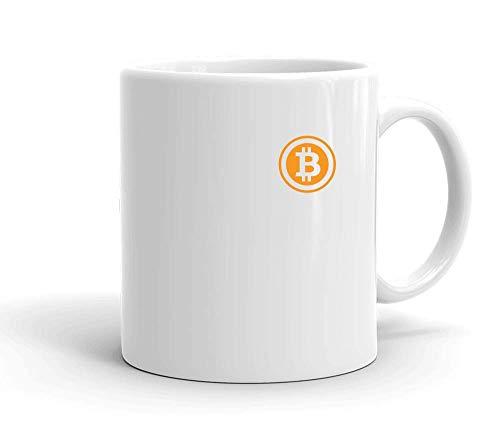IDcommerce Bitcoin Miniature Logo Tasse en Céramique Blanche pour Le Thé Et Le Café