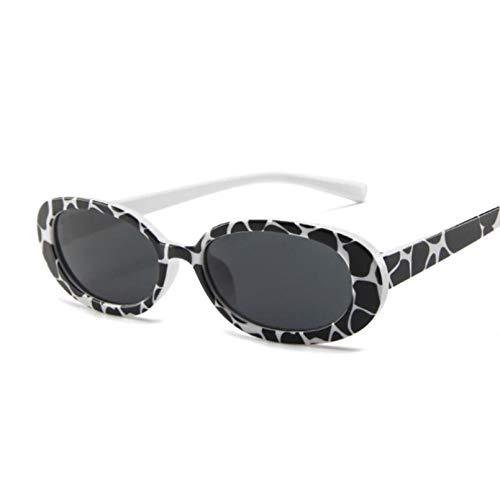 HHAA Gafas De Sol para Mujer, Clásicas, Retro, Vintage, Ovaladas, para Mujer, Diseñador De Marca, Eeywear, Gafas Uv400