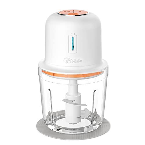 Electric Cordless Food Chopper,Portable Food Processor 2.5 Cup BPA...