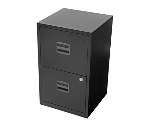 Bisley Steel 2 Drawer Filing Cabinet - Black