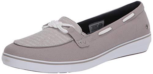 Grasshoppers Women's Windsor Knot Sporty Stripe Sneaker, Grey, 8.5 W US