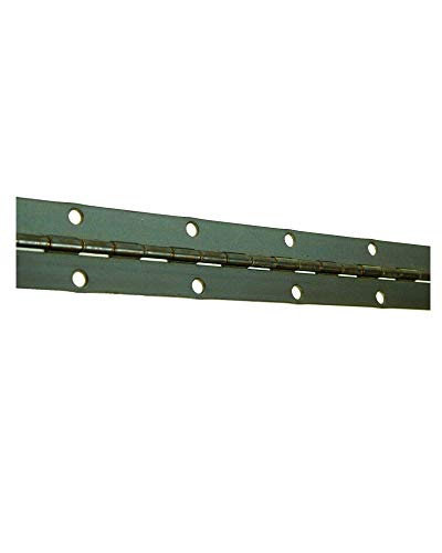 Continuous Piano Steel Hinges - 1-1/4' x 46' Continuous Piano Hinge Steel Piano Hinge Continuous Hinge Steel Continuous Hinge with Holes - Statuary Bronze Black Finish