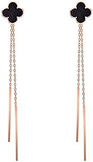 Clover Tassel Earrings Dangle Eardrops for Women
